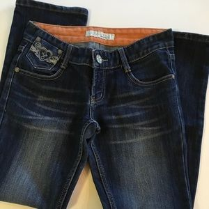 Zipper Straight Leg Jeans